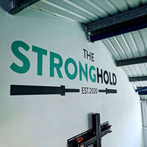 the-stronghold-gym-cheltenham-mural-logo-handpainted-signwriting-signpainting