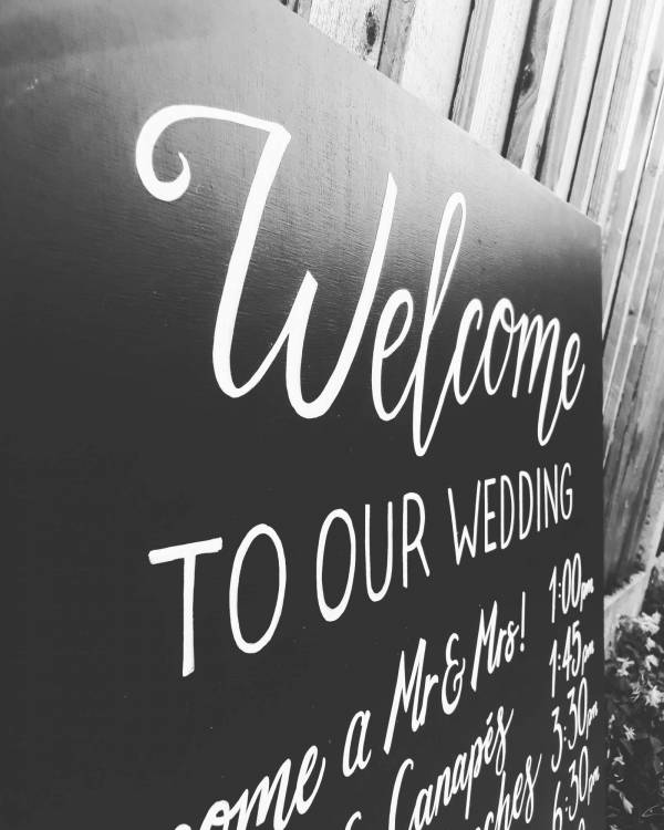 welcome-to-our-wedding-order-of-service-signage-chalk-blackboard-freehand-lettering