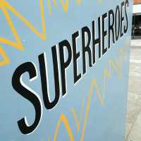 superheroes-lettering-handpainted-gloucester-quays-event